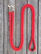 Long loop reins with permanent snaps - 6 mm