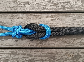Lead rope with loop and tassel - 14 mm