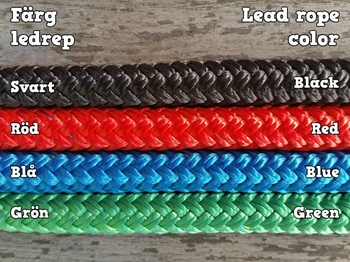 Lead rope with bolt snap and rope popper - 10 mm