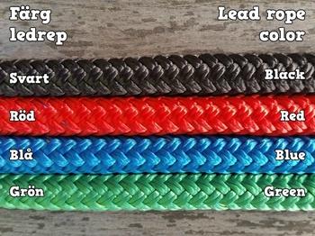 Lead rope with loop and tassel - 10 mm