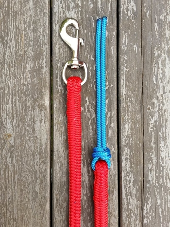 Lead rope with bolt snap and rope popper - 14 mm