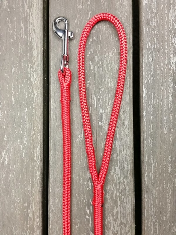 Leash with bolt snap - 6 mm