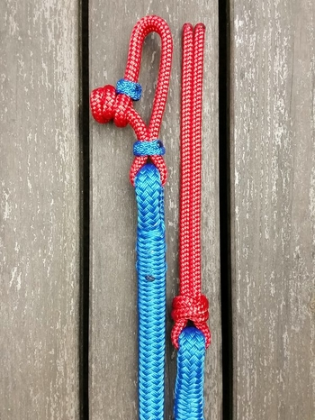 Lead rope with rope connector and rope popper - 14 mm