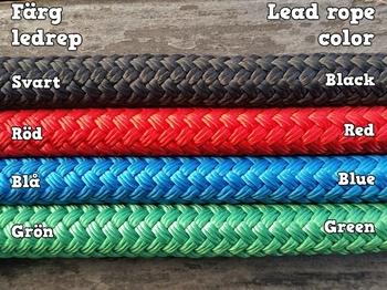 Ledrep med repfäste och ändsplits - 14 mm