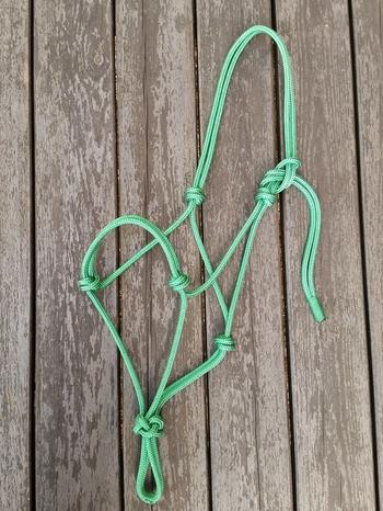 Standard rope halter - Pony, Green