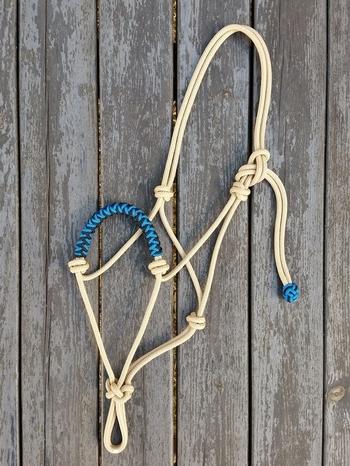 Braided standard rope halter - Pony, Tan