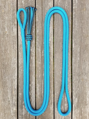 Lead rope with loop and tassel - 14 mm, 3,70 m, Blue