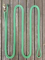 Ledrep med pistolhake och ändknop - 10 mm, 6,70 m, Grön